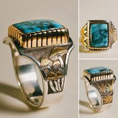 Sterling, ringsformen, Turquoise, Engagement