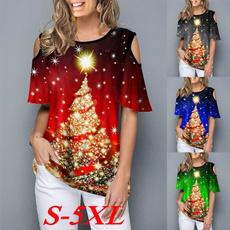 Fashion, Shirt, christmastreeshirt, halfsleeve