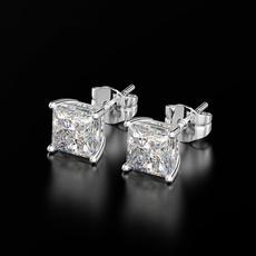 White Gold, 8MM, Stud, Engagement