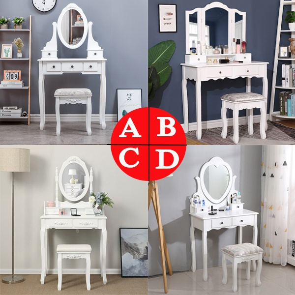 bedroom, Women, Desk, Stool