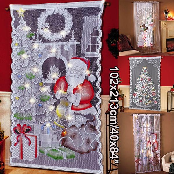 christmascurtain, led, Home Decor, walldecoration