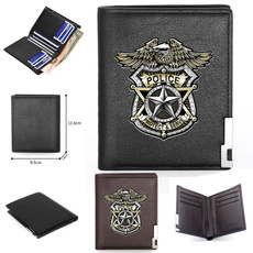 Shorts, Police, Credit Card Holder Wallet, Gifts