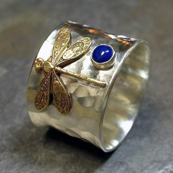 dragon fly, Christmas, 925 silver rings, Silver Ring