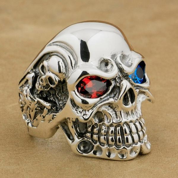 ghost, Steel, punk rings, eye