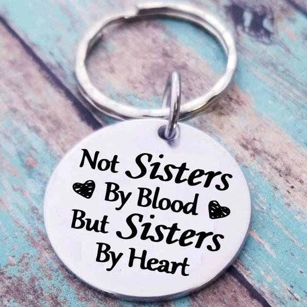Heart, sister, Key Chain, friendshipgift