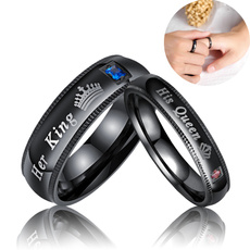 Couple Rings, Steel, Fashion, Stainless Steel
