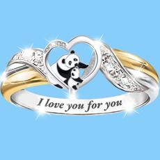 Heart, letterring, wedding ring, gold