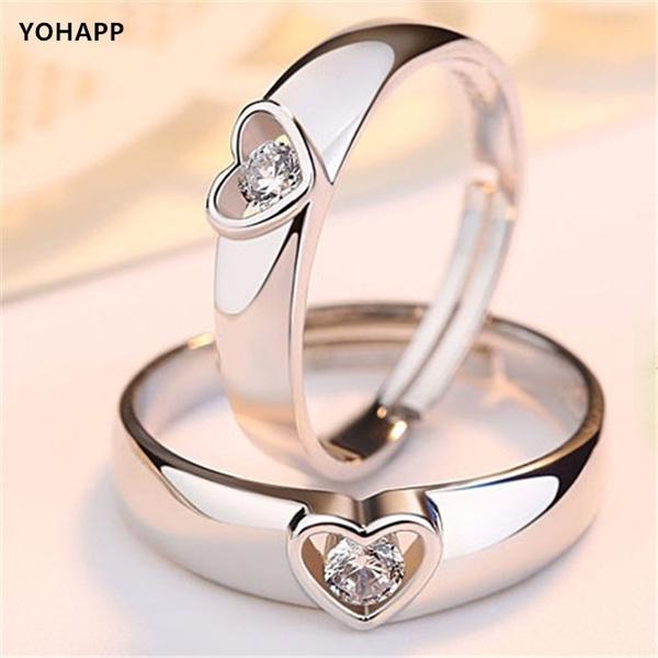 Couple Rings, Heart, DIAMOND, Love