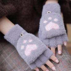 cute, Cotton, Winter, fivefinger
