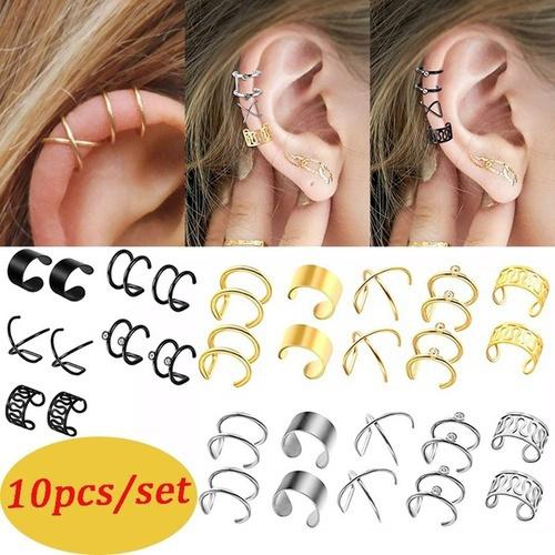Steel, Jewelry, women earrings, cartilageclip