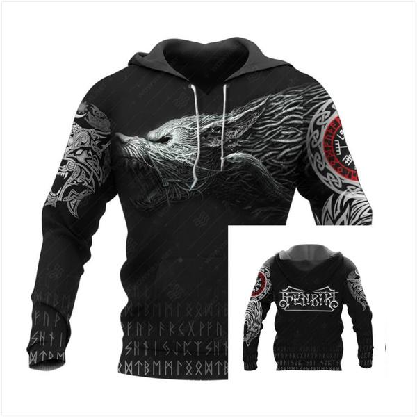 viking, Fashion, Sweatshirts, Long Sleeve