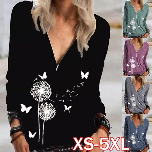 Plus Size, Sweatshirts Women, Long Sleeve, printed shirts