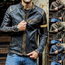 leatherjacketformen, bikerjacket, Plus Size, Winter