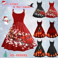 Sleeveless dress, Plus Size, Cosplay, Christmas