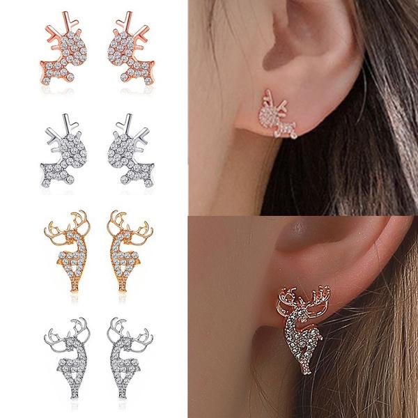 elkearring, DIAMOND, Jewelry, Stud Earring