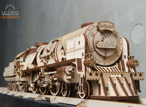 woodentrain, ugearsmechanicalmodel, woodentoy, ugearsmodel