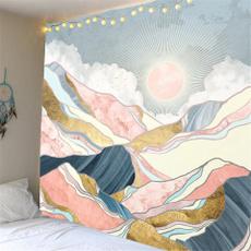 pink, Mountain, bohemia, Home Decoration