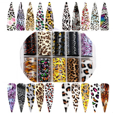 nail stickers, art, Beauty, leopard print