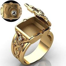 ringsformen, hip hop jewelry, halloweengift, 18k gold ring