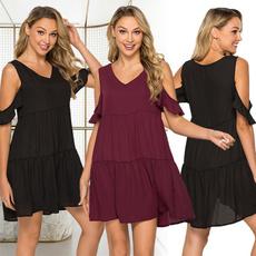 Summer, vest dress, Dress, V Neckdress