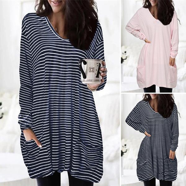 blouse, stripedtshirt, Plus Size, Knitting