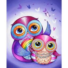 Owl, DIAMOND, Home Decor, Cross