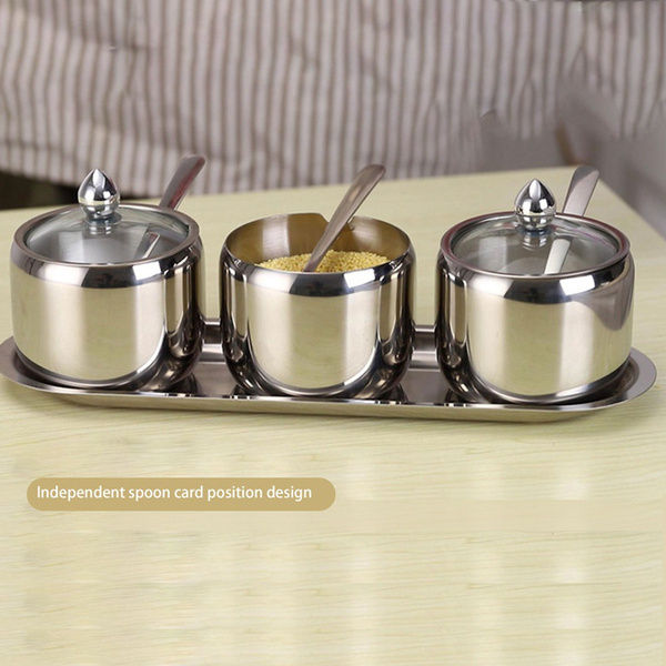 Steel, Stainless, Kitchen & Dining, condimentjar