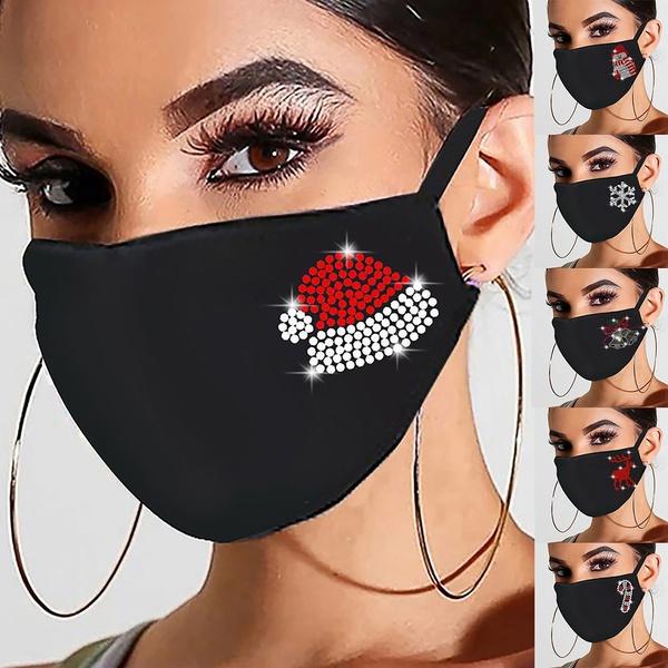 Women, Cotton, dustproofmask, blackmask