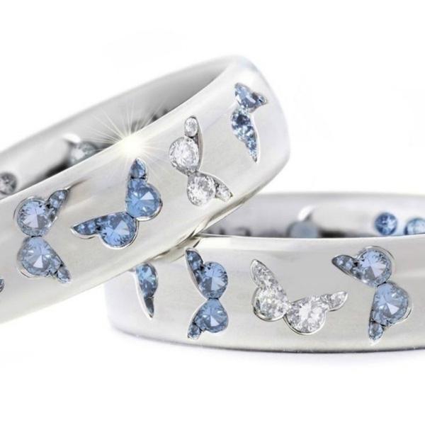 butterfly, Sterling, DIAMOND, Jewelry