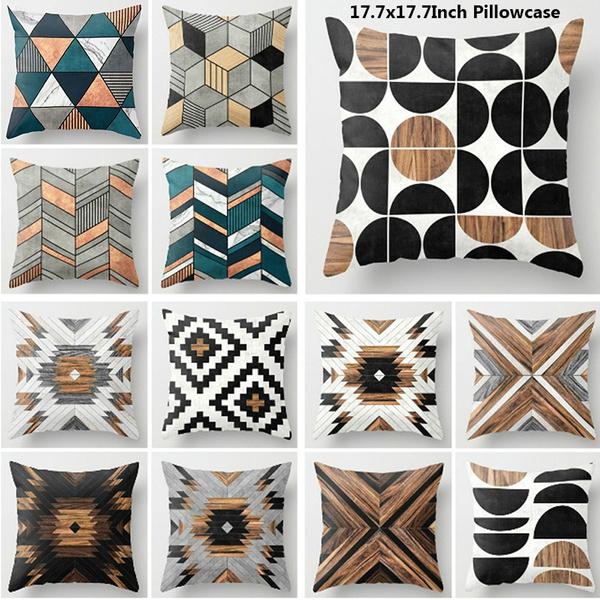 sofadecorative, woodengeometrypillowcase, Seats, homedecorative