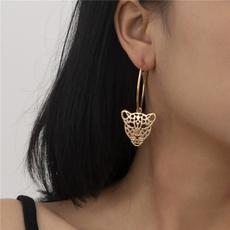 goldplated, Head, Fashion, leopardearring