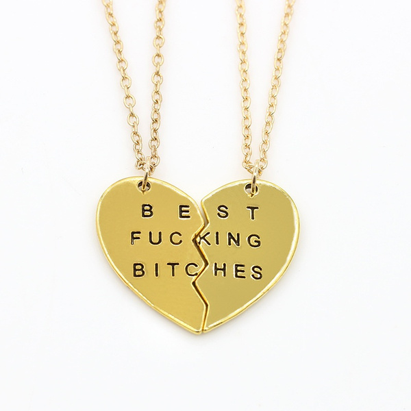 Heart, Chain Necklace, Fashion necklaces, punk necklace