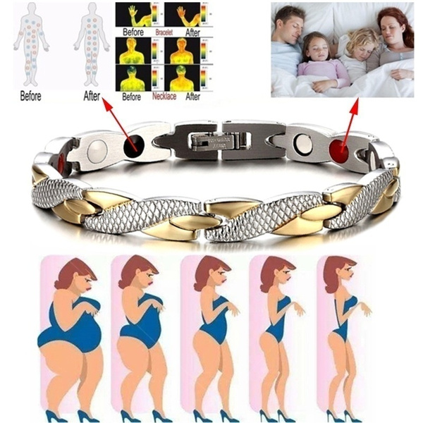 Steel, Men, Jewelry, magnetichealthbracelet