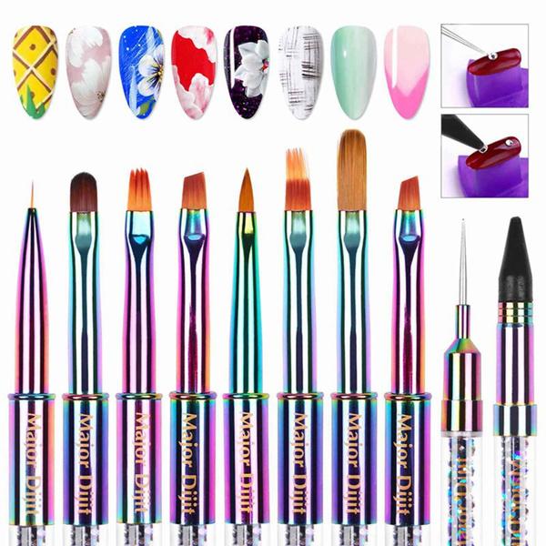 acrylicnailbrush, art, nailartpen, Beauty