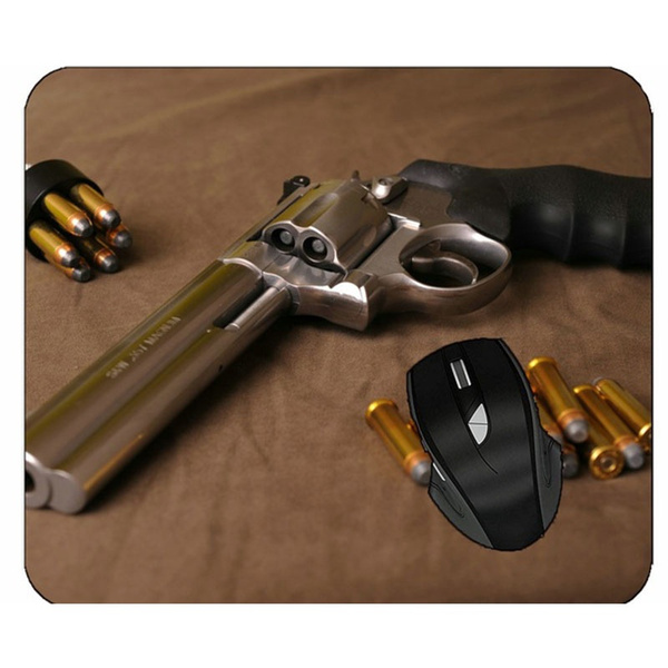 revolvermouse, mouse mat, Mouse, Weapons