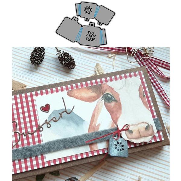 papercarddecoration, stencil, diesscrapbooking, Bell
