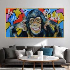 monkey, Funny, canvasprint, noframe