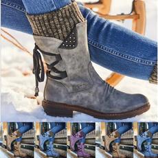 Knee High Boots, fur, Winter, Waterproof