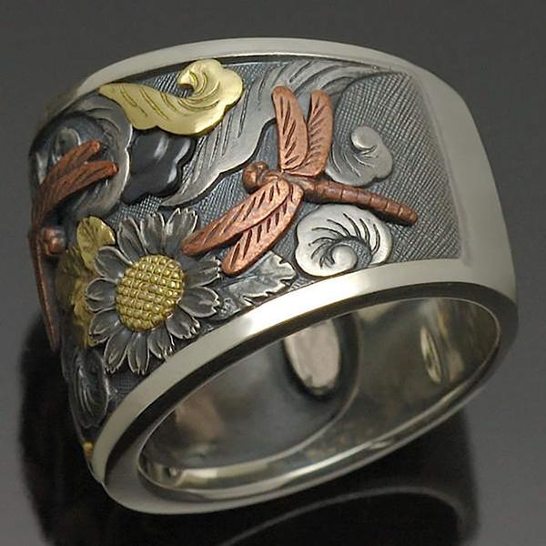 Sterling, dragon fly, dragonflyring, 925 sterling silver