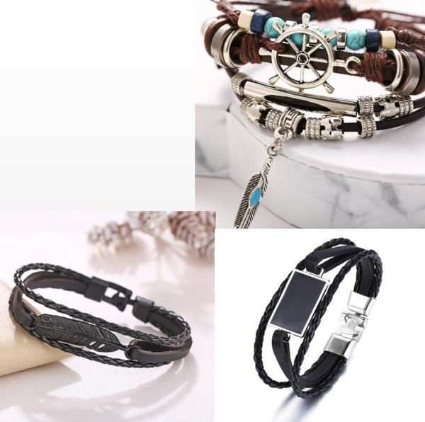 Charm Bracelet, Jewelry, wovenbracelet, Vintage