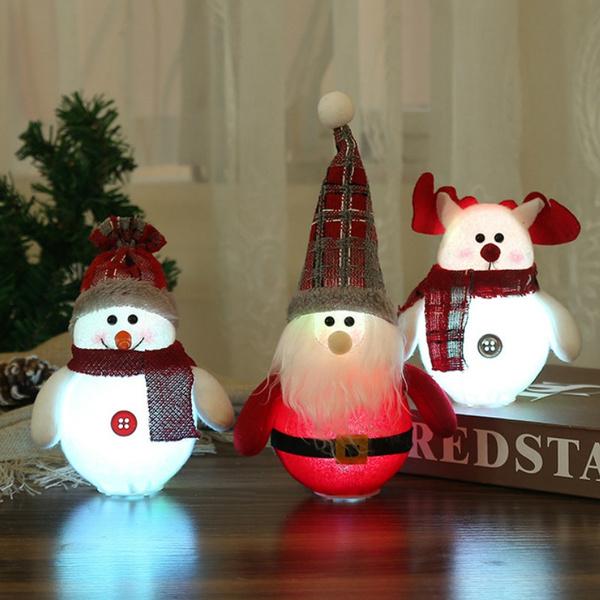 Christmas Decoration Ornament Luminous Snowman