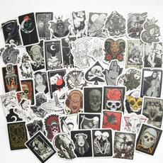 Car Sticker, suitcasesticker, skull, cute