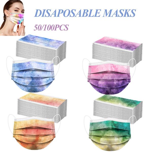 surgicalfacemask, dustproofmask, gradientmask, Colorful