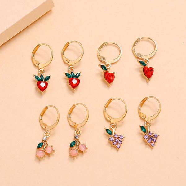 cute, Hoop Earring, Jewelry, peach