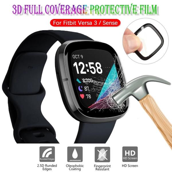 Screen Protectors, fitbitsense, fitbitversa3screenprotector, Watch