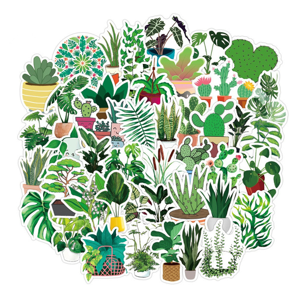 Car Sticker, Plants, suitcasesticker, greenplantsticker