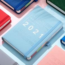 School, planner, memonotebook, leather