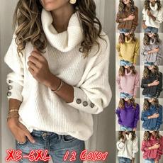 Turtle, knitwear, Plus Size, knitted sweater