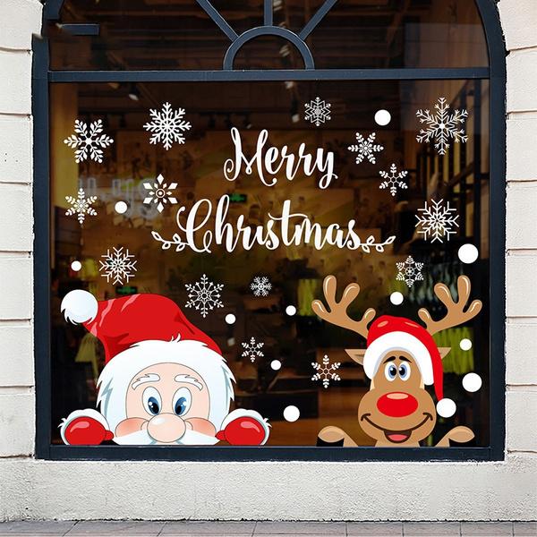 windowsticker, Christmas, Glass, Stickers