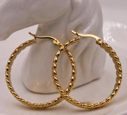 bighoopearring, Charm Jewelry, Fashion, gold